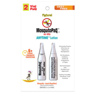 MosquitoPaQ no bite ANYTIME Lotion 2 VialPaQ
