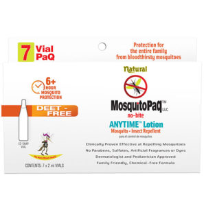 MosquitoPaQ no bite ANYTIME Lotion 7 VialPaQ