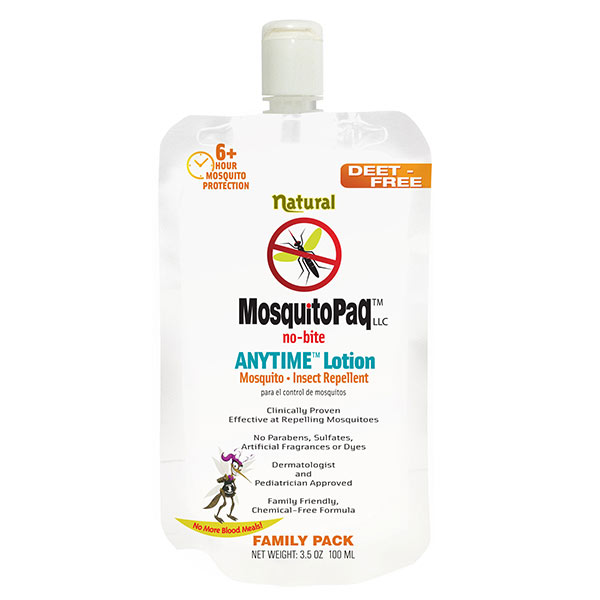 MosquitoPaQ no bite ANYTIME Lotion StandUp Pouch