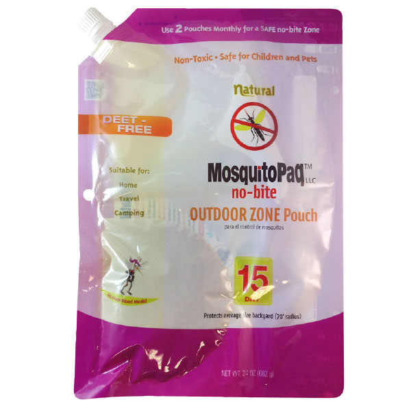 MosquitoPaQ™ no-bite 15 Day OUTDOOR ZONE Product