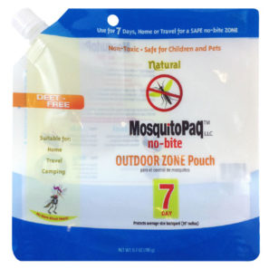 MosquitoPaQ™ no-bite 7 Day OUTDOOR ZONE Product