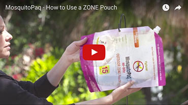 How to use a ZONE Pouch - MosquitoPaQ Video