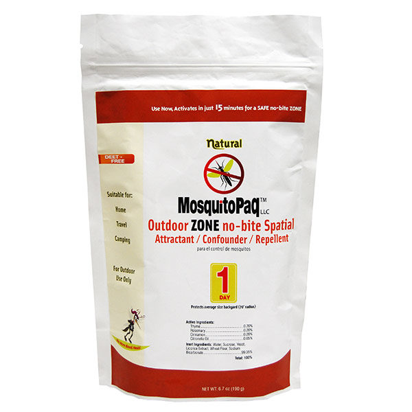 MosquitoPaQ™ 1 Day OUTDOOR ZONE no-bite Spatial Product