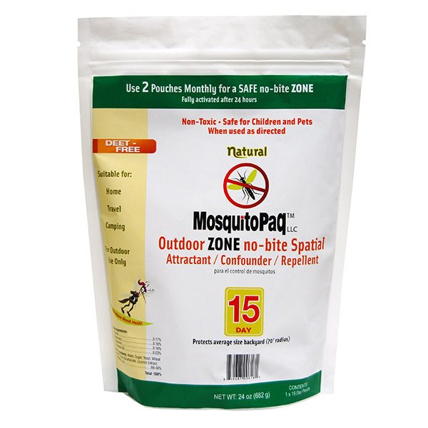MosquitoPaQ™ 15 Day OUTDOOR ZONE no-bite Spatial Product