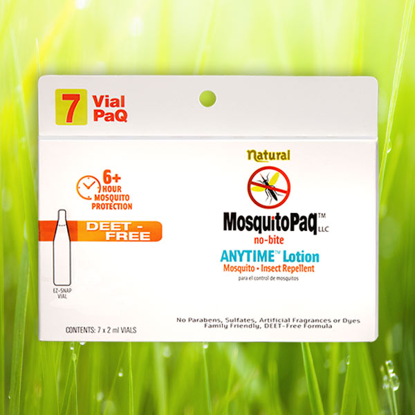 ANYTIME™ no-bite Lotion 7 VialPaQ Card